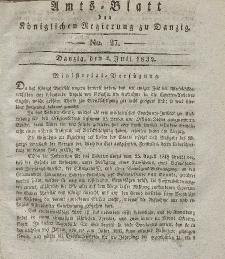 Amts-Blatt der Königlichen Regierung zu Danzig, 4. Juli 1832, Nr. 27