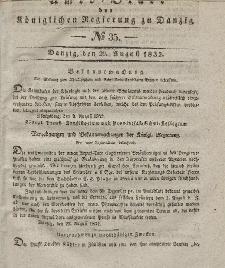 Amts-Blatt der Königlichen Regierung zu Danzig, 29. August 1832, Nr. 35