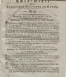 Amts-Blatt der Königlichen Regierung zu Danzig, 26. September 1832, Nr. 39