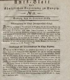 Amts-Blatt der Königlichen Regierung zu Danzig, 10. Oktober 1832, Nr. 41