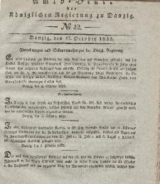 Amts-Blatt der Königlichen Regierung zu Danzig, 17. Oktober 1832, Nr. 42