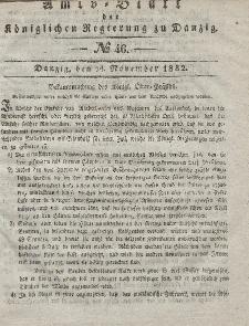 Amts-Blatt der Königlichen Regierung zu Danzig, 14. November 1832, Nr. 46