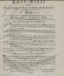 Amts-Blatt der Königlichen Regierung zu Danzig, 5. Dezember 1832, Nr. 49