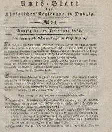 Amts-Blatt der Königlichen Regierung zu Danzig, 12. Dezember 1832, Nr. 50