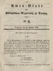 Amts-Blatt der Königlichen Regierung zu Danzig, 18. Januar 1854, Nr. 3