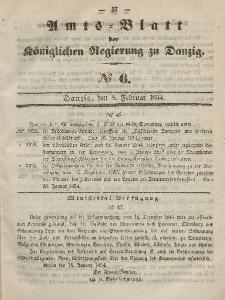 Amts-Blatt der Königlichen Regierung zu Danzig, 8. Februar 1854, Nr. 6