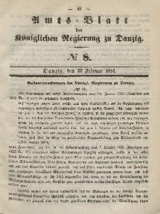 Amts-Blatt der Königlichen Regierung zu Danzig, 22. Februar 1854, Nr. 8