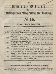 Amts-Blatt der Königlichen Regierung zu Danzig, 8. März 1854, Nr. 10