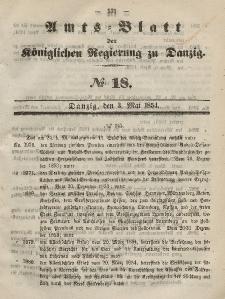 Amts-Blatt der Königlichen Regierung zu Danzig, 3. Mai 1854, Nr. 18