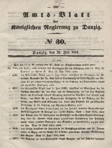 Amts-Blatt der Königlichen Regierung zu Danzig, 26. Juli 1854, Nr. 30