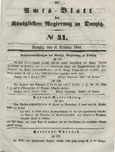 Amts-Blatt der Königlichen Regierung zu Danzig, 11. Oktober 1854, Nr. 41
