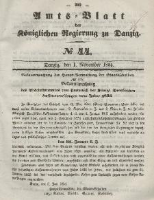 Amts-Blatt der Königlichen Regierung zu Danzig, 1. November 1854, Nr. 44