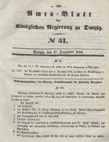 Amts-Blatt der Königlichen Regierung zu Danzig, 20. Dezember 1854, Nr. 51