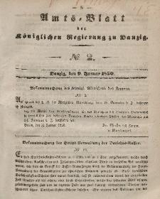 Amts-Blatt der Königlichen Regierung zu Danzig, 9. Januar 1850, Nr. 2
