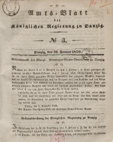 Amts-Blatt der Königlichen Regierung zu Danzig, 16. Januar 1850, Nr. 3
