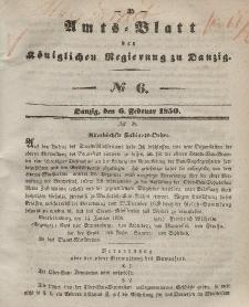 Amts-Blatt der Königlichen Regierung zu Danzig, 6. Februar 1850, Nr. 6