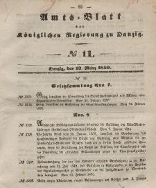 Amts-Blatt der Königlichen Regierung zu Danzig, 13. März 1850, Nr. 11
