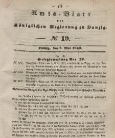 Amts-Blatt der Königlichen Regierung zu Danzig, 8. Mai 1850, Nr. 19