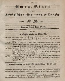 Amts-Blatt der Königlichen Regierung zu Danzig, 5. Juni 1850, Nr. 23
