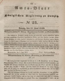 Amts-Blatt der Königlichen Regierung zu Danzig, 12. Juni 1850, Nr. 24