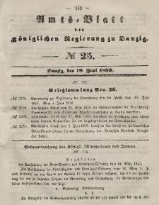 Amts-Blatt der Königlichen Regierung zu Danzig, 19. Juni 1850, Nr. 25
