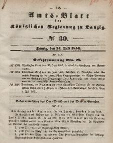 Amts-Blatt der Königlichen Regierung zu Danzig, 24. Juli 1850, Nr. 30