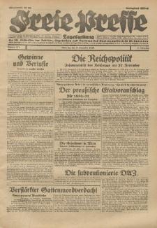 Freie Presse, Nr. 271 Dienstag 19. November 1929 5. Jahrgang