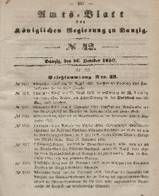 Amts-Blatt der Königlichen Regierung zu Danzig, 16. Oktober 1850, Nr. 42