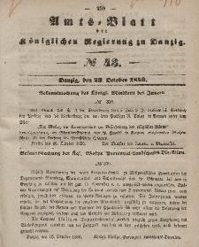 Amts-Blatt der Königlichen Regierung zu Danzig, 23. Oktober 1850, Nr. 43