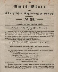 Amts-Blatt der Königlichen Regierung zu Danzig, 30. Oktober 1850, Nr. 44