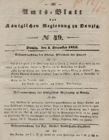 Amts-Blatt der Königlichen Regierung zu Danzig, 4. Dezember 1850, Nr. 49