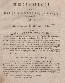 Amts-Blatt der Königlichen Regierung zu Danzig, 27. Januar 1836, Nr. 4