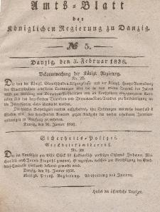 Amts-Blatt der Königlichen Regierung zu Danzig, 3. Februar 1836, Nr. 5