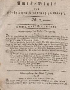 Amts-Blatt der Königlichen Regierung zu Danzig, 17. Februar 1836, Nr. 7