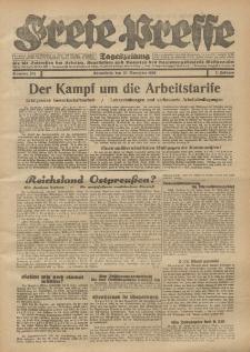 Freie Presse, Nr. 274 Sonnabend 23. November 1929 5. Jahrgang