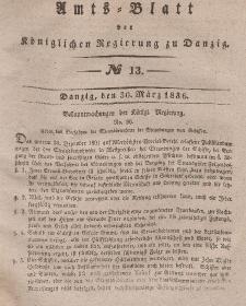 Amts-Blatt der Königlichen Regierung zu Danzig, 30. März 1836, Nr. 13