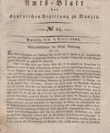 Amts-Blatt der Königlichen Regierung zu Danzig, 6. April 1836, Nr. 14