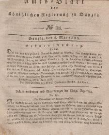 Amts-Blatt der Königlichen Regierung zu Danzig, 4. Mai 1836, Nr. 18
