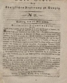 Amts-Blatt der Königlichen Regierung zu Danzig, 25. Mai 1836, Nr. 21