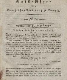 Amts-Blatt der Königlichen Regierung zu Danzig, 24. August 1836, Nr. 34