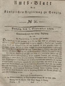 Amts-Blatt der Königlichen Regierung zu Danzig, 7. September 1836, Nr. 36