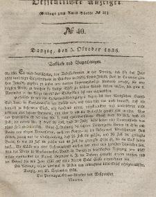 Amts-Blatt der Königlichen Regierung zu Danzig, 5. Oktober 1836, Nr. 40