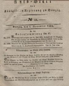 Amts-Blatt der Königlichen Regierung zu Danzig, 2. November 1836, Nr. 44