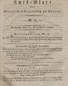 Amts-Blatt der Königlichen Regierung zu Danzig, 21. Dezember 1836, Nr. 51