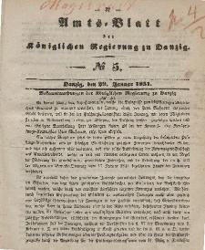 Amts-Blatt der Königlichen Regierung zu Danzig, 29. Januar 1851, Nr. 5