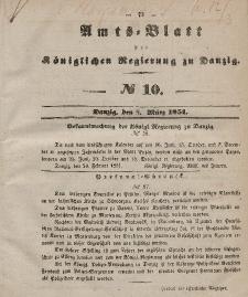 Amts-Blatt der Königlichen Regierung zu Danzig, 5. März 1851, Nr. 10