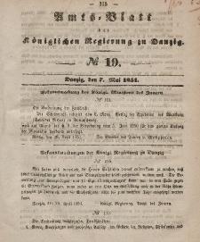 Amts-Blatt der Königlichen Regierung zu Danzig, 7. Mai 1851, Nr. 19