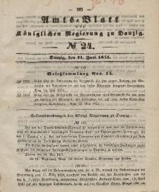 Amts-Blatt der Königlichen Regierung zu Danzig, 11. Juni 1851, Nr. 24