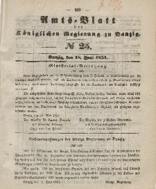 Amts-Blatt der Königlichen Regierung zu Danzig, 18. Juni 1851, Nr. 25