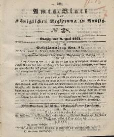 Amts-Blatt der Königlichen Regierung zu Danzig, 9. Juli 1851, Nr. 28